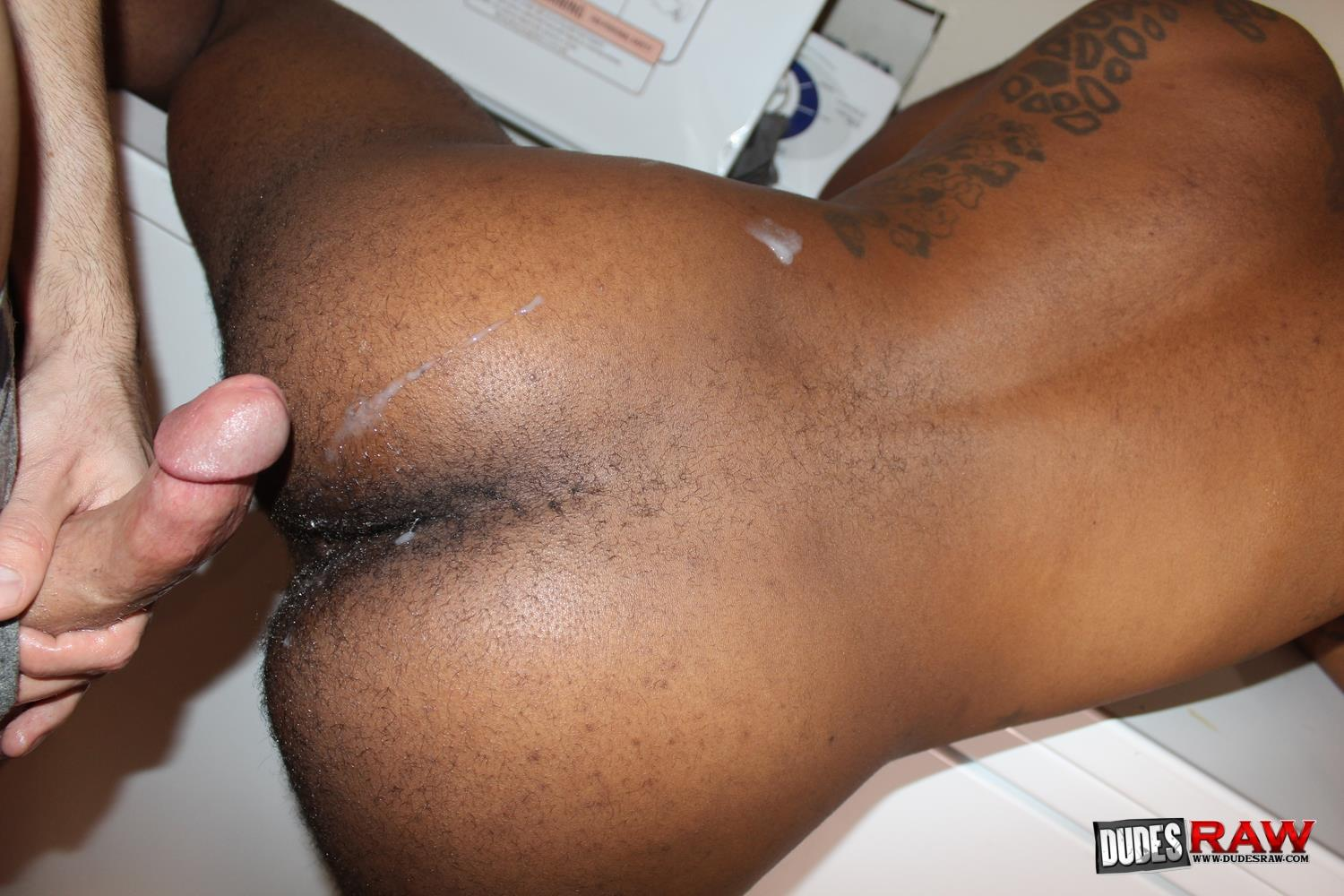 Dudes-Raw-August-Alexander-and-Mason-Lear-Blig-Black-Cock-Breeding-White-Hole-14 Mason Lear Gets Bred By A Big Black Cock In A Secluded Laundry Room