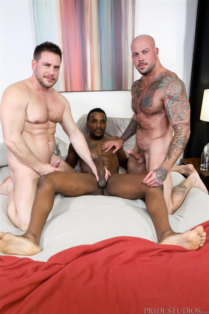 Extra-Big-Dicks-Sean-Duran-and-Hans-Berlin-and-Pheonix-Fellington-Interracial-Bareback-01 Muscle Daddies Sean Duran and Hans Berlin Share Pheonix Fellington's Big Black Cock